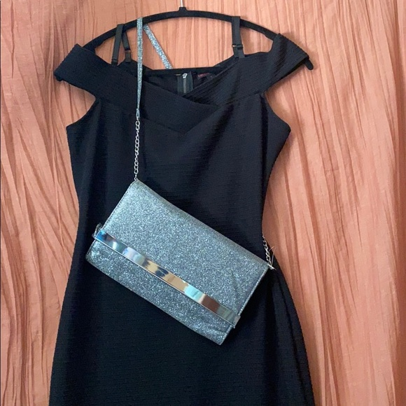 Material Girl Black Dress w/glittery formal Purse!